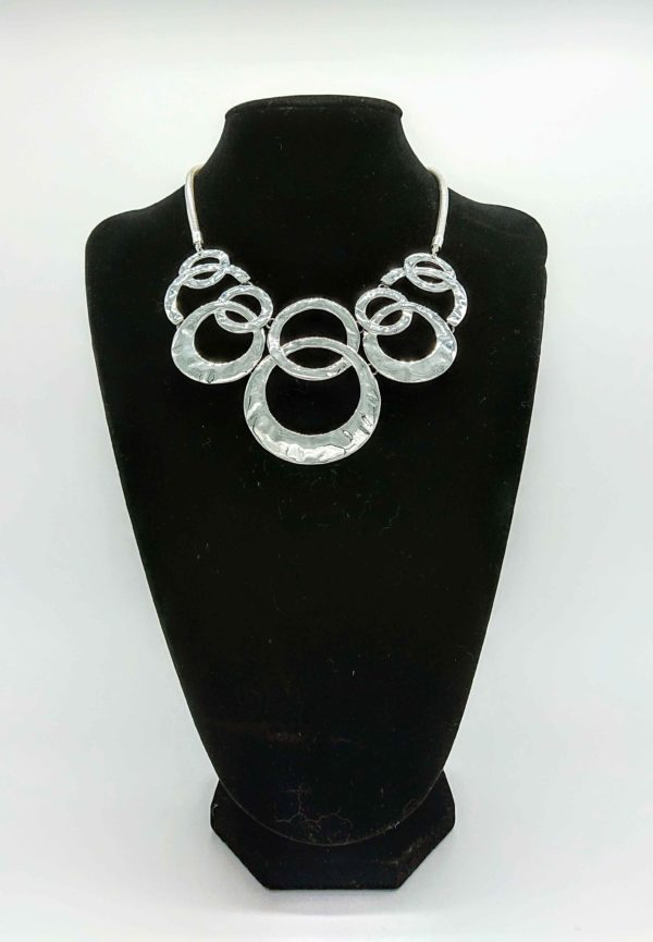 Short Silver Olympian Necklace