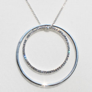 Twin Ring Diamante Necklace