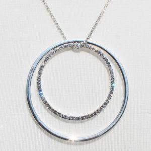 Twin Ring Diamante Necklace