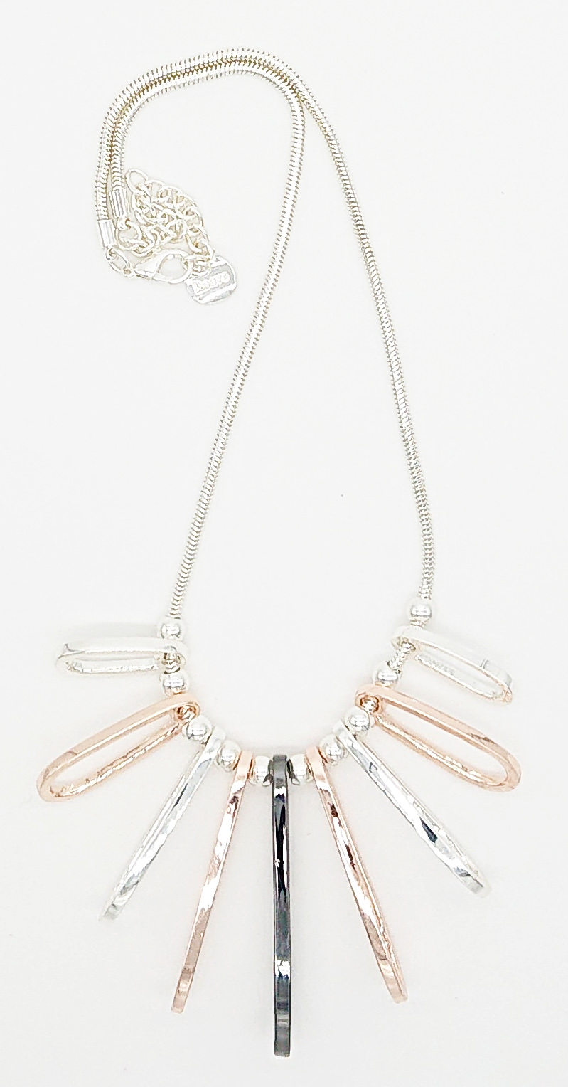 silver gold pendant necklace