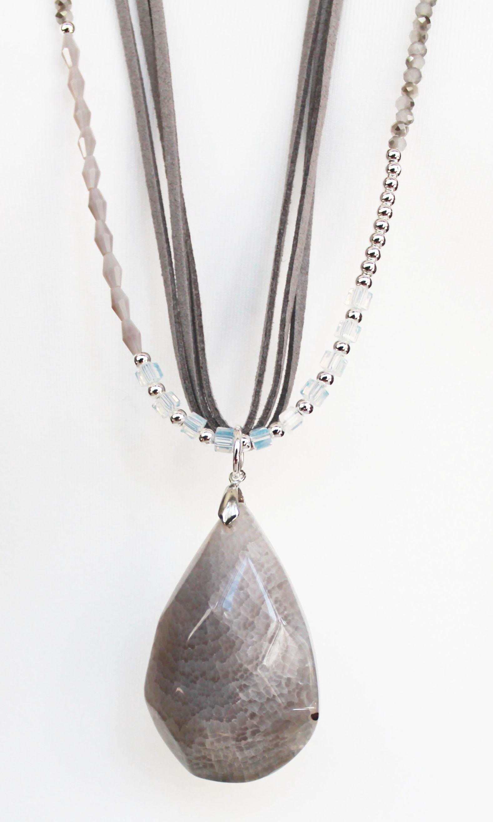 Jewellery Bead Pendant Grey