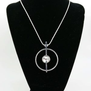 Bullseye Diamond Necklace