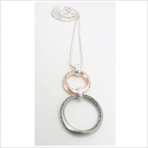 Saturn Bling Rings Necklace