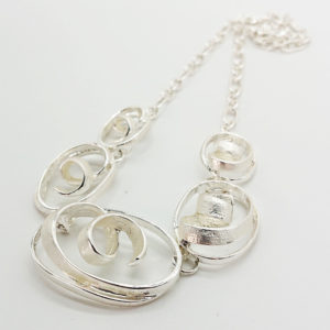 Scrolling Silver Necklace
