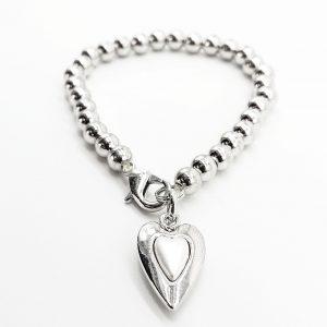 Ivory Heart Charm Bracelet