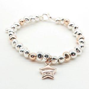 Rose Star Charm Bracelet