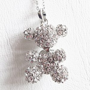 Sparkling Teddy Bear Necklace