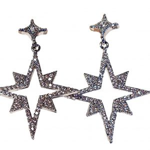 Sparkling Star Drop Earrings
