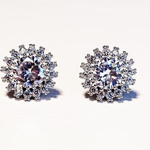 Diamante Clip On Earrings