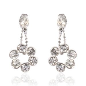 Diamante Floral Earrings