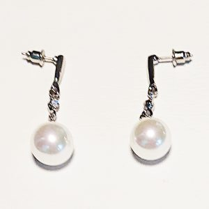 Sparkling Pearl Drop Earrings