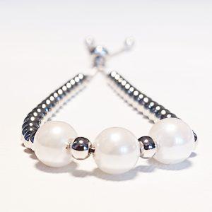 Triple Pearl Slider Bracelet