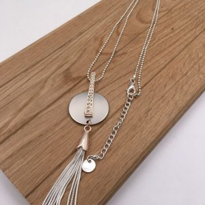 Tassle Discs Necklace