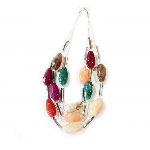 Sweet Pebble Triple Strand Necklace