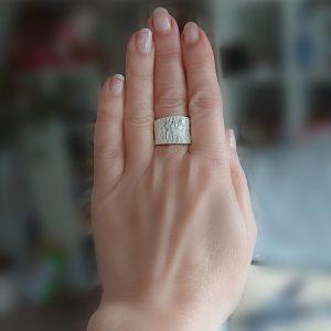 Ridged Silver Ring